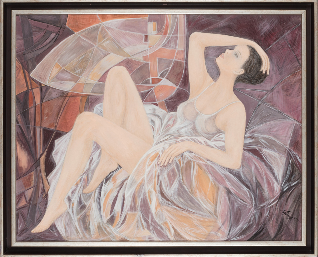 Lydia Gutnikova - Reflexion - #001, 2010 Acryl, Leinwand 90 x 75 cm
