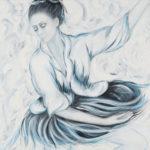 Lydia Gutnikova - Tanz im Sturm - #005, 2013 Acryl, Leinwand 80 x 80 cm