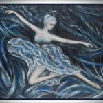 Lydia Gutnikova - Nymphentanz - #011, 2015 Acryl, Leinwand 110 x 90 cm
