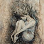 Lydia Gutnikova - Emotionales Tief - #019, 2017 Acryl, Leinwand 80 x 100 cm