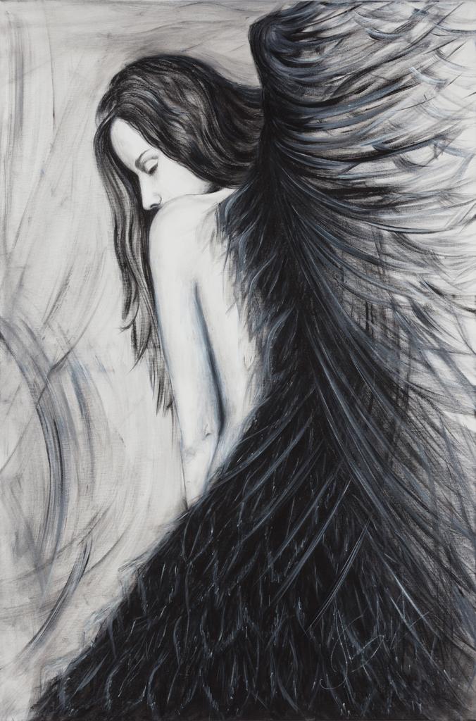Lydia Gutnikova - Flügelfrau - #020, 2018 Acryl, Leinwand 80 x 120 cm