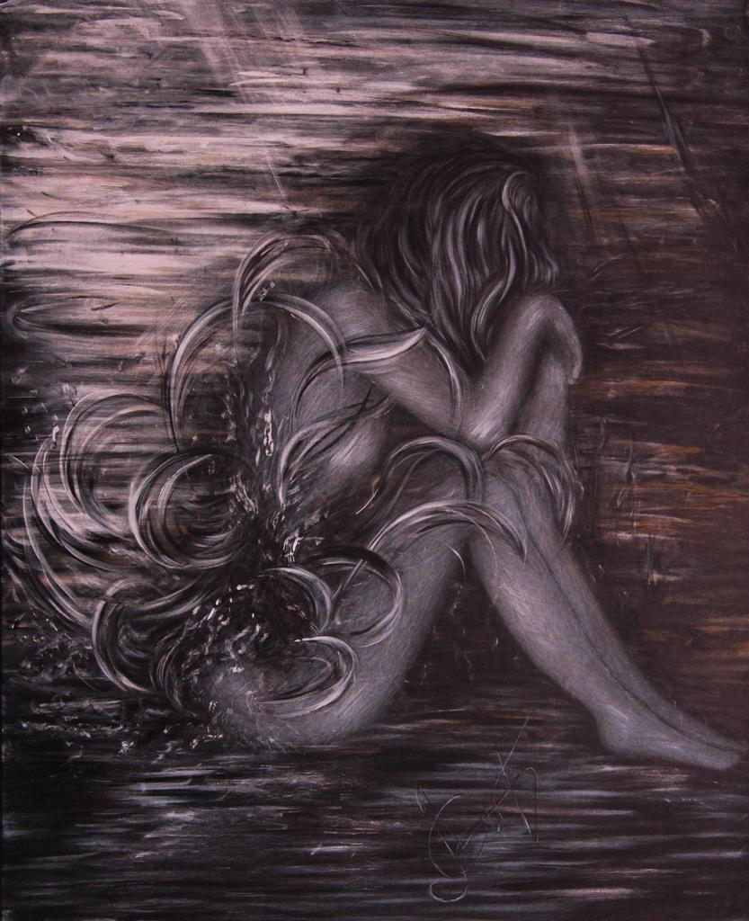 Lydia Gutnikova - Erschöpft - #022, 2018 Acryl, Leinwand 80 x 100 cm