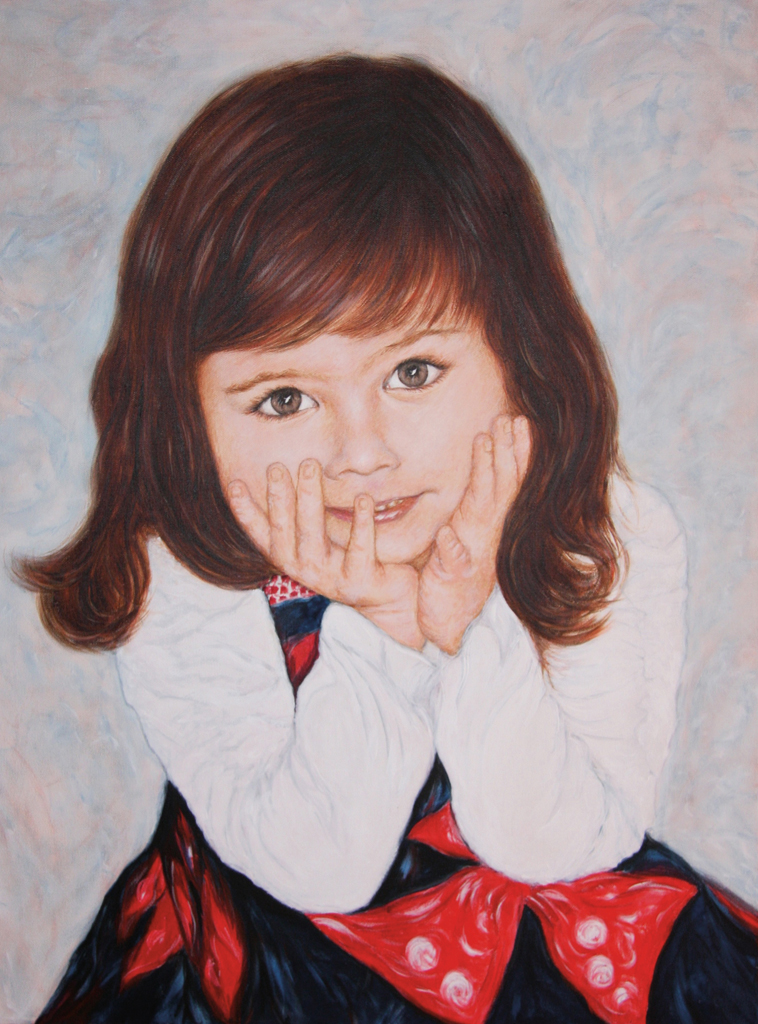 Lydia Gutnikova - Kinderportrait - #100-4, 2018 Acryl, Leinwand 60 x 80 cm