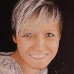 Lydia Gutnikova - Portrait - #100-5, 2018 Acryl, Leinwand 50 x 60 cm