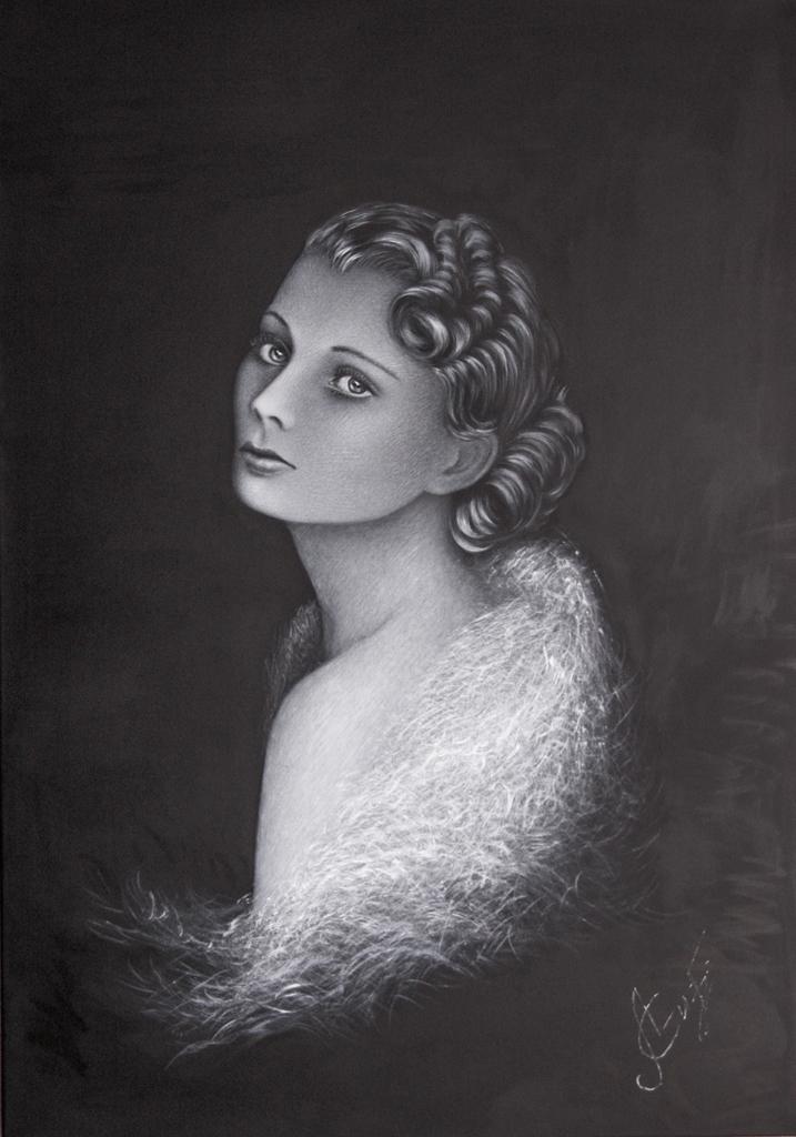 Lydia Gutnikova - Portrait - #100-6, 2018 Acryl, Leinwand 70 x 100 cm